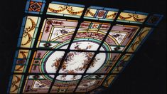 Stained glass ceiling in an hotel of Paris by @francevitrail