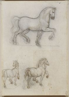 Leonardo da Vinci, 1452-1519, Italian, Study for the Trivulzio Monument, c.1517-18.  Pen and ink over black chalk, 20.3 x 14.3 cm.  Royal Collection Trust, Windsor.  High Renaissance.