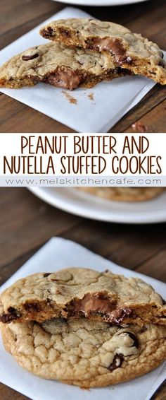 These swirled peanut butter and Nutella stuffed chocolate chip cookies will make you look like a complete rock star.