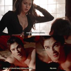 """854 Likes, 25 Comments - The Vampire Diaries (@tvdfridays) on Instagram: """"[5x17] THEY'RE SO HOT OMG — Who do you think is hotter, Damon or Elena? — My edit give credit"""""""