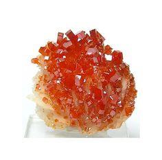 Red Orange Vanadinite Crystals on Barite Matrix by FenderMinerals,