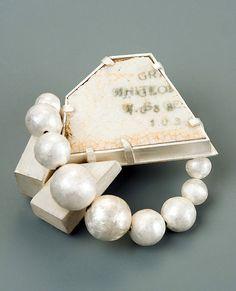 Michael O'Neill Jewelry - Echo point - brooch - silver; ceramic, steel