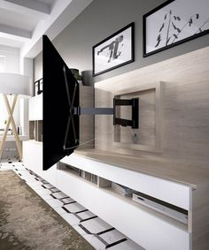 Salón moderno con brazo de TV (237 – S2) - Muebles CASANOVA - #decoracion #homedecor #muebles