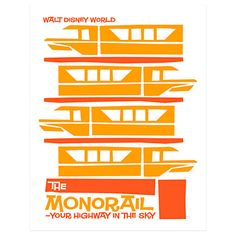"""Take a nostalgic ride on the """"Highway in the Sky"""" with this Monorail merch, celebrating the elevated transit system that travels high over Walt Disney World Resort. Description from insidethemagic.net."""