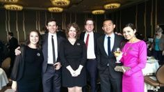 Dan Le and classmates at the Fritzky Dinner