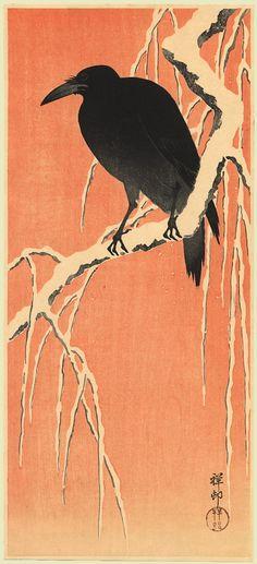 Crow  :Ohara Koson