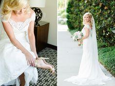 Gown: Augusta Jones Veil: Erica Koesler Bride's Shoes: Kate Spade Photography: Ailyn La Torre Photography