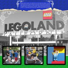 legoland  scrapbook layouts | think it is about time to go to bed, but I'm still playing with ...