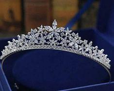 Hair Jewelry, Bridal Jewelry, Jewellery, Princess Jewelry, Princess Tiara, Queens Tiaras, Bride Tiara, Silver Tiara, Bride Accessories
