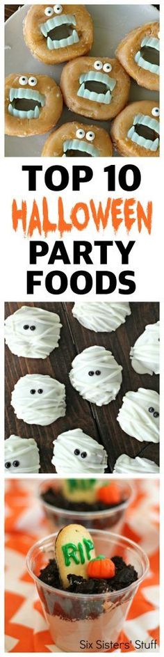 Top 10 Halloween Party Foods from SixSistersStuff.com