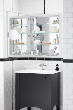 Vanity and cabinet ideas from #kohler Verdera mirrored cabinet, Alberry vanity and Bancroft lavatory faucet. Available today at Bender Showrooms locations, or call 1-800-573-4288.