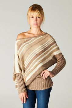 Liz Sweater in Layers of Mocha