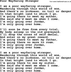 Wayfaring Stranger lyrics by Johnny Cash with meaning ...