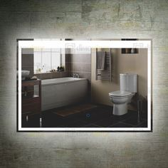 Various Designs LED Backlit Bathroom Mirror Wholesale