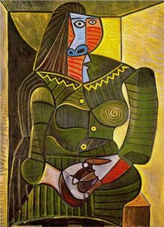 Woman in green - Pablo Picasso #picasso #art
