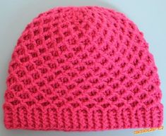 Crochet hat ♥LCH-MRS♥ with diagram and picture instructions. Crochet Kids Hats, Crochet Cap, Crochet Girls, Knitted Hats, Mitten Gloves, Mittens, Hat Tutorial, Girl With Hat, Crochet Accessories
