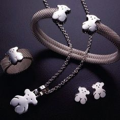 Tous Bear in sterling silver . Perfect set for Mother's Day