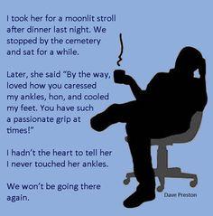 A walk in the moonlight... #humor, #romance, #love, #fear