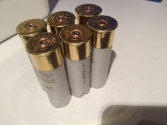10 off White Gold 12 Gauge Shotgun Shells by EjectedBrass on Etsy