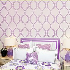 Wall stencil modern but soft