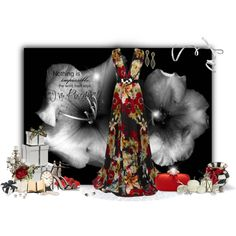 """""""Floral Gown Contest"""" by kginger on Polyvore - www.olhodeshivajoias.com.pt"""