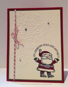 South Shore Stamping: Get Your Santa On - PP221 - Stampin' Up! Card by Emily Mark SU demo Greenfield Park, Quebec www.southshorestamping.com