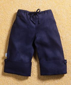 Navy Linen Sailor Pants - Infant, Toddler & Girls