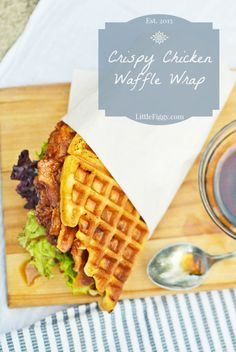Crispy Chicken Waffle Wrap