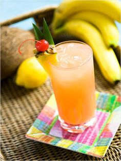 Passion fruit Breeze - light rum, pineapple juice, passionfruit nectar