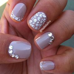 Cheetah French tips--not the gems but love the Cheetah!