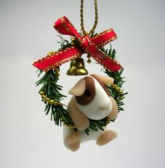 Little Guinea Pig in Christmas Wreath (£24)