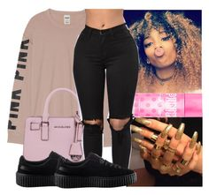 """""""❄"""" by kodakdej ❤ liked on Polyvore featuring Victoria's Secret, MICHAEL Michael Kors, Victoria's Secret PINK and Puma"""