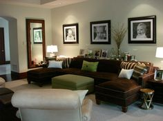 Traditional Living Photos Brown Sofa Design Ideas, Pictures, Remodel, and Decor - page 14
