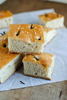 Sea Salt and Rosemary Focaccia Bread ~ My Kitchen Experiments