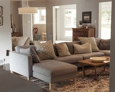 Charcoal grey sofa... looking for beautiful neutral sofas.