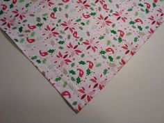 Dog Bandana/Scarf Cotton Christmas Poinsettias Holly Custom Made by Linda L #CustommadebyLinda