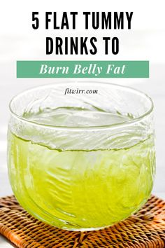 Flat Tummy Drink, Flat Tummy Fast, Lose Stomach Fat Fast, Burn Belly Fat, Belly Fat Drinks, Fat Loss Drinks, Fat Burning Drinks, Healthy Breakfast For Weight Loss, Healthy Eating