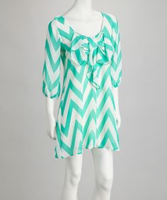 $18 Mint Zigzag Scoop Neck Dress by Fashionomics on #zulily 14 june