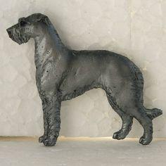 Scottish Deerhound Grey Brooch Dog Breed Jewellery Handpainted Handcrafted Resin