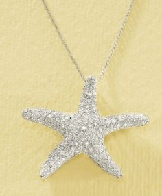 Diamond Starfish 14k White Gold Pendant | Shop fashion, accessories,luxury| Kaboodle