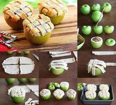 Необычный яблочный десерт