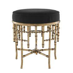Round Black Stool   Eichholtz Alessia S   OROA Modern & Luxury Furniture