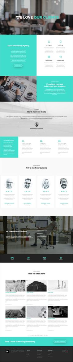 Heisenberg is a flexible and powerful responsive #WordPress theme for #webdesign stunning #agency websites with 10+ unique homepage layouts download now➩  https://themeforest.net/item/heisenberg-multipurpose-wordpress-theme/19188422?ref=Datasata