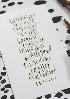 A Fabulous Fete: a surprise baby shower + free printable Dr. Calligraphy Doodles, Calligraphy Letters, Typography Letters, Modern Calligraphy, Islamic Calligraphy, Types Of Lettering, Script Lettering, Brush Lettering, Lettering Design