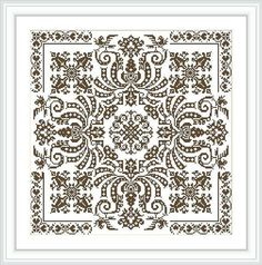 ONLY PATTERN Digital pattern cross stitch - Baroque style - fillet lace Stitched area: X Stitches Size: 14 Count, X cm x inches Size: 16 Count, X cm x inches Total crosses: 14440 Number of colors: 1 Model stitched on Cross Stitch Floss, Cross Stitch Samplers, Cross Stitching, Cross Stitch Embroidery, Hand Embroidery, Cross Stitch Designs, Cross Stitch Patterns, Mosaic Patterns, Crochet Patterns