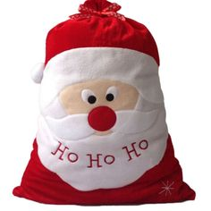 ASLT Christmas Day Decoration Santa Large Sack Stocking Big Gift bags HO HO Christmas Santa Claus Xmas Gifts