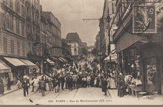 L'animation de la rue de Ménilmontant, vers 1900.