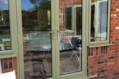 Classic French Doors are an ideal replacement for those draughty, hard to maintain and often insecure timber or steel doors. Aluminium French Doors, Green Windows, Steel Doors, Patio, Gallery, Glass, House, Garage, Loft