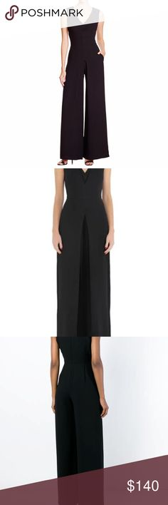 Vince womens Black Jumpsuit Size 8 Black v neck like new Vince Dresses