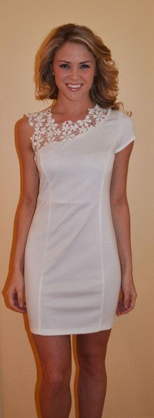 Pearly White Lace Dress